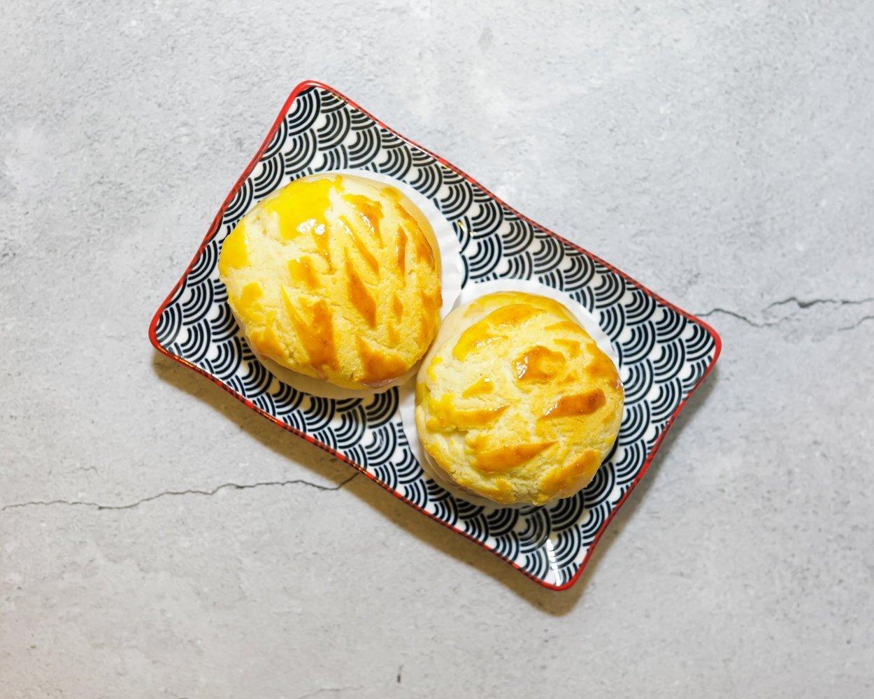 Char Siew _Bo Lo_ Butter Buns