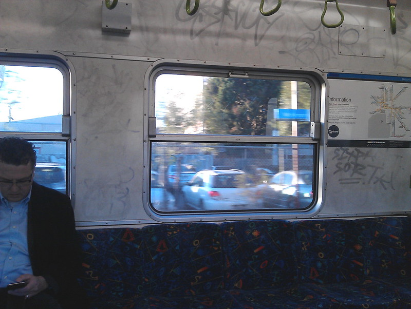 Hitachi train interior, 2011