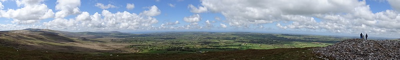 Along the tops of the Preseli Hills