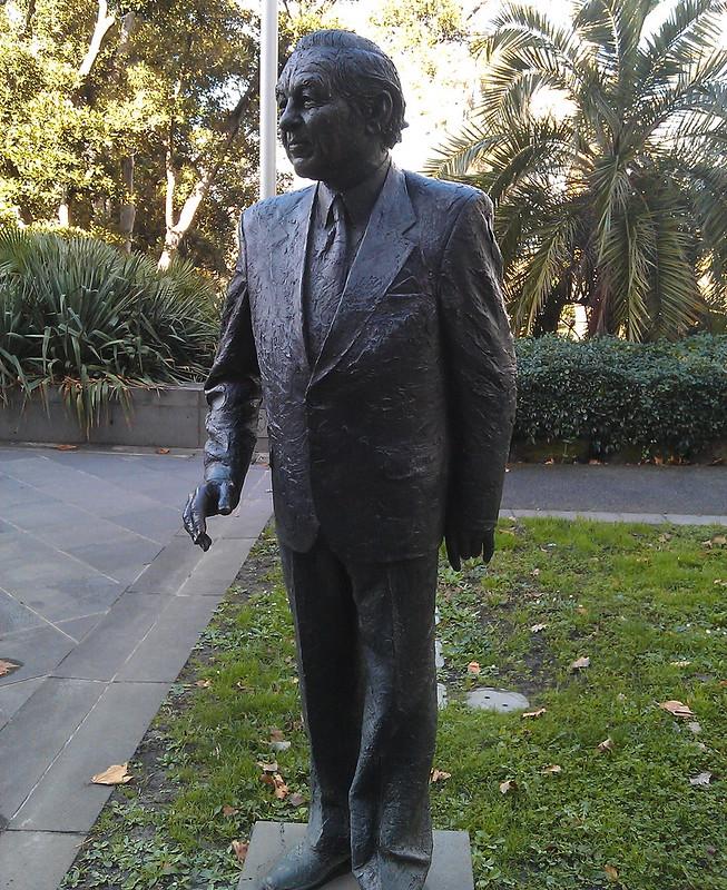 Rupert Hamer statue at Treasury Place, 2011