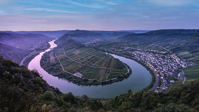Moselle Valley In The Blue Hour