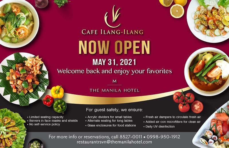 TMH Cafe Ilang Ilang Reopening