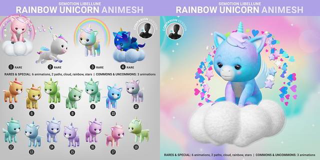 SEmotion Libellune Rainbow Unicorn Animesh