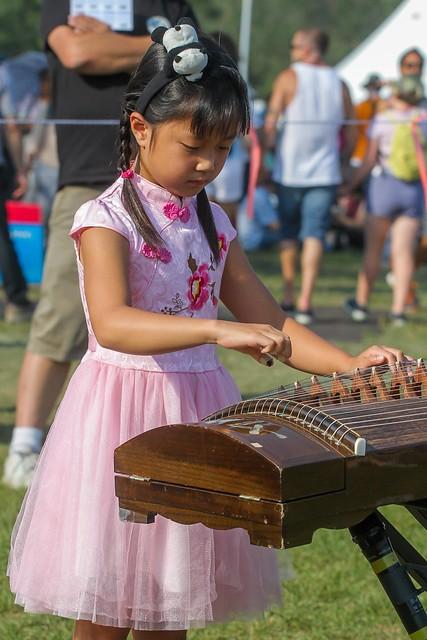 Girl Playing the Koto