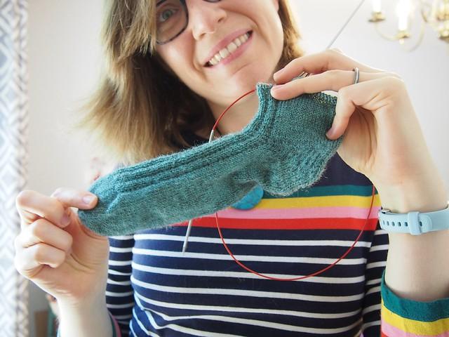 Sock in progress.