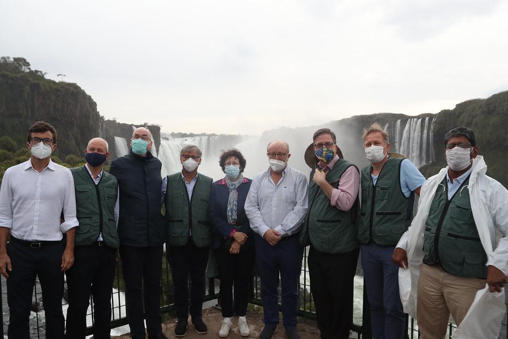 Embaixadores Estrangeiros visitam a Usina Hidrelétrica de Itaipu.