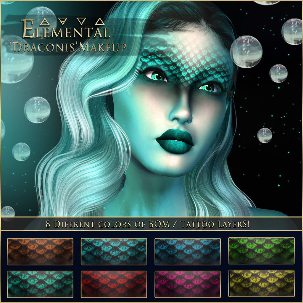 - ELEMENTAL - 'Draconis' Makeup with BOM