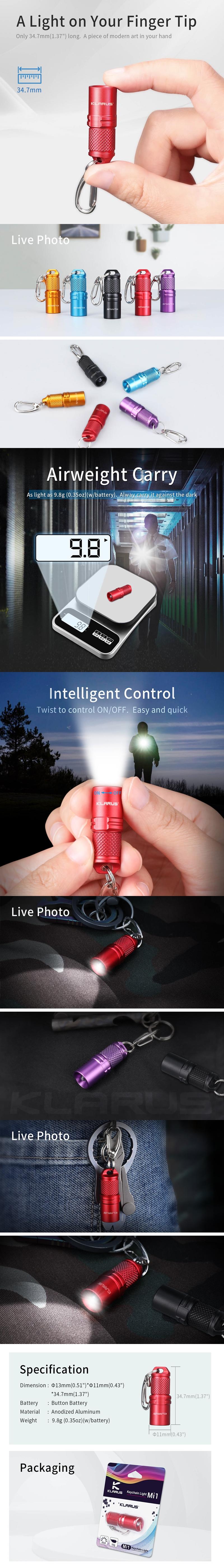 【錸特光電】KLARUS Mi1 鑰匙燈 LED燈 小巧 手電筒 鑰匙圈 送禮 交換禮物 包包小燈 (1)-vert