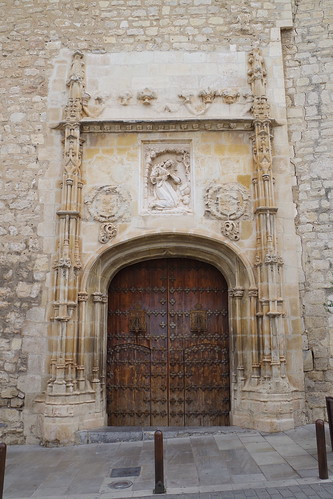 Portada gótica de la Iglesia de la Magdalena en Jaén