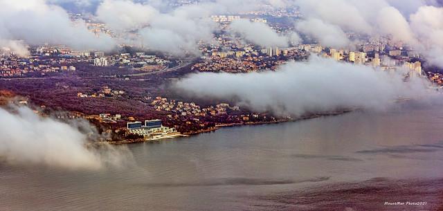 Veprinac - oblaci magle nad Rijekom