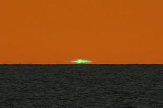 "The ""green flash"" at sunrise at Ormond Beach FL"