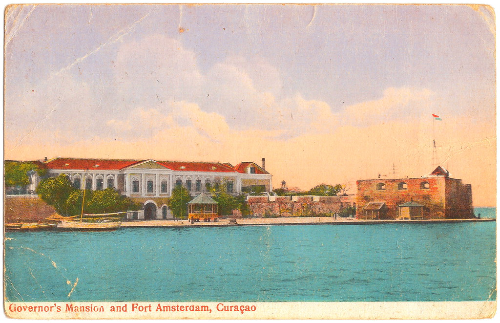 Curaçao - Governor's Mansion and Fort Amsterdam