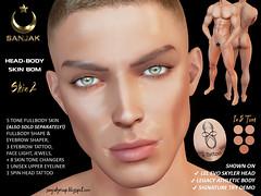 Fullbody Male Skin 2 in 5 Tone BOM Shape Brows + Extras Sanjak ADD TO UNPACK