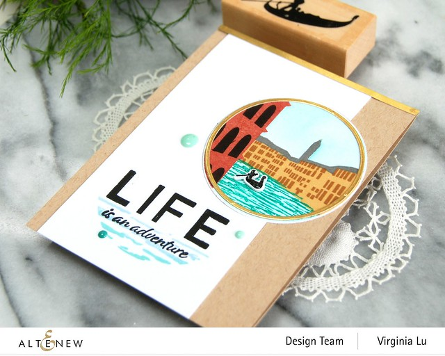 Altenew-Let's Go Stamp Set-Let's Go Die Set-Let's Go Simple Coloring Stencil-002
