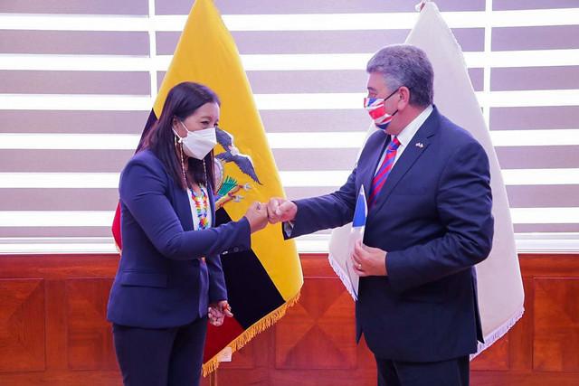 PRESIDENTA DE LA ASAMBLEA NACIONAL GUADALUPE LLORI, MANTUVO REUNIÓN  CON EMBAJADOR DE GRAN BRETAÑA CHRIS CAMPBEL. ECUADOR,  01 DE JUNIO DE 2021.