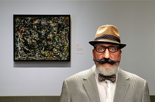 I Always Wear a Disguise Near Jackson Pollock Paintings