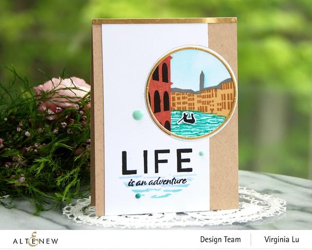 Altenew-Let's Go Stamp Set-Let's Go Die Set-Let's Go Simple Coloring Stencil-001