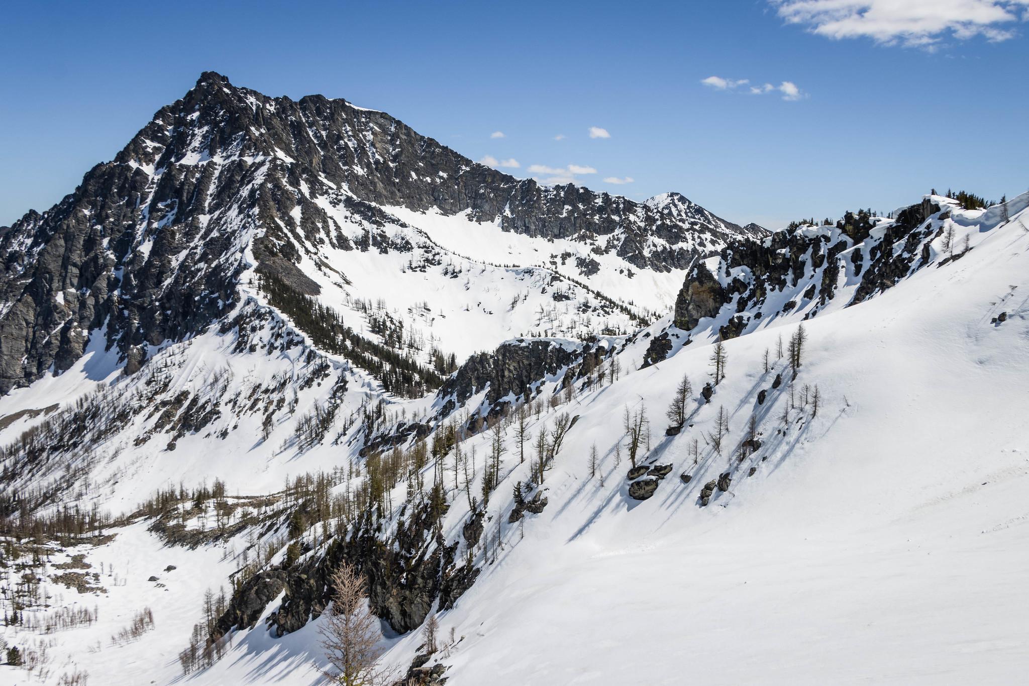 Looking back at Reynolds Peak