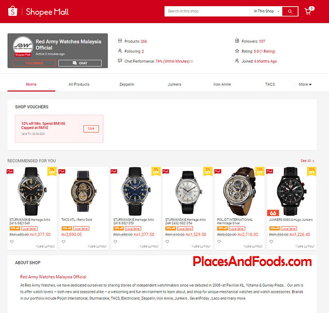 red army watches shopee