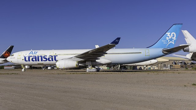 N111BA_MZJ_Parked_TS_A330_342_30_Years_Anniversary_Colors