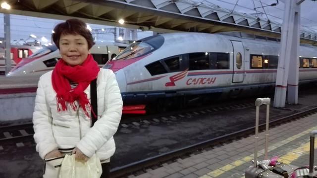 รตจิตร โดยสารรถไฟ Sapson in Russia