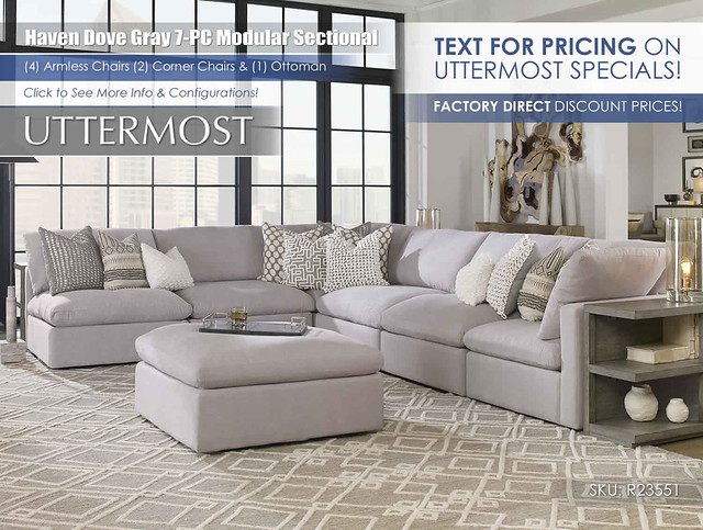 Haven Dove Gray 7-PC Modular_r23551_Text for Pricing