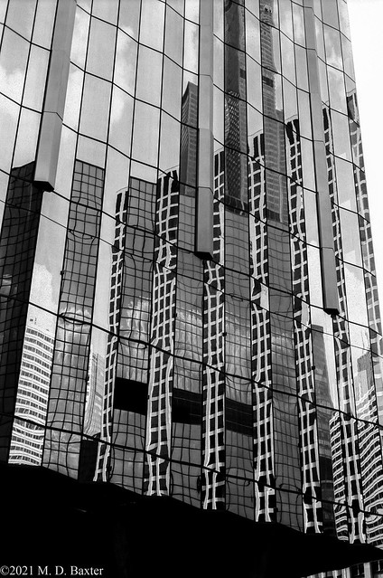 Reflection of a Cityscape