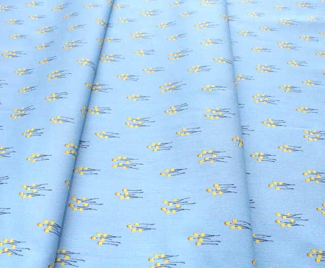 Michael Miller Fabrics Be Kind to Everything That Grows DC9771-BLUE Miniature Mushrooms Blue