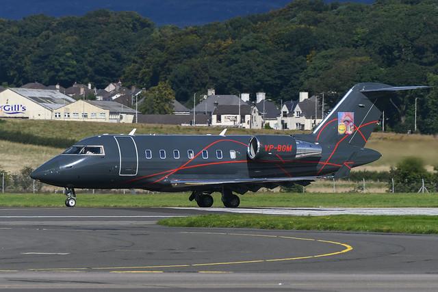 VP-BGM Bombardier Challenger 605 EGPF 06-09-20