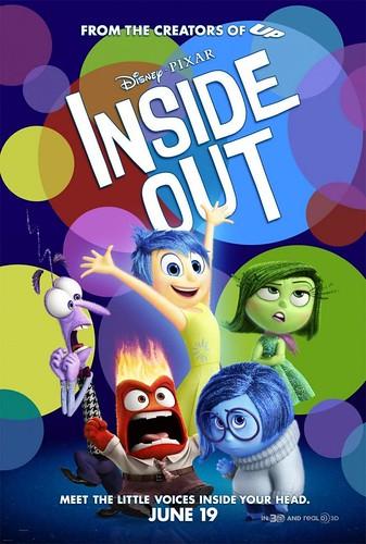 Cartel de la Pelicula Inside Out - Del Reves