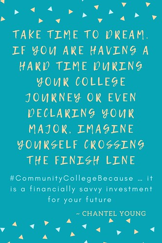 #CommunityCollegeBecause … it is a financially savvy investment for your future