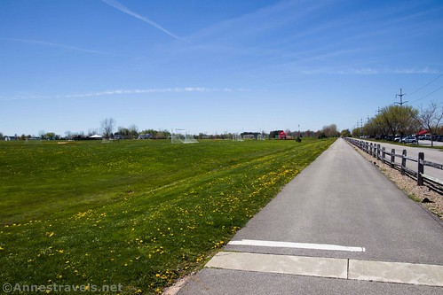 The Clarence Pathways Trail through the soccer park, Clarence, New York