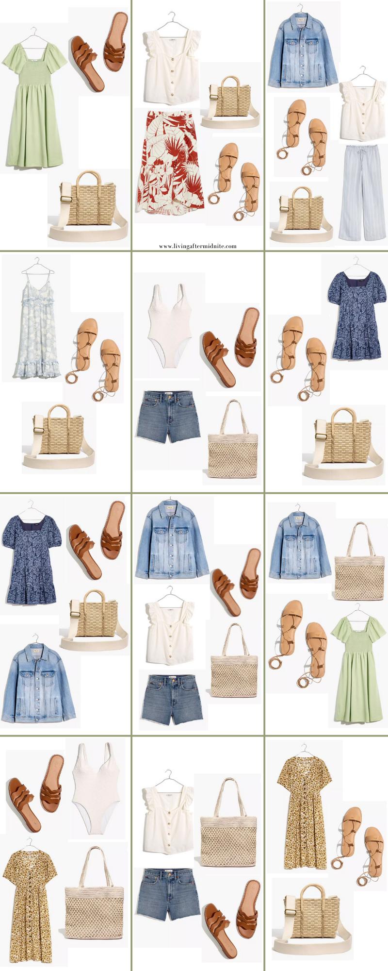 Madewell Summer Vacation Capsule Wardrobe