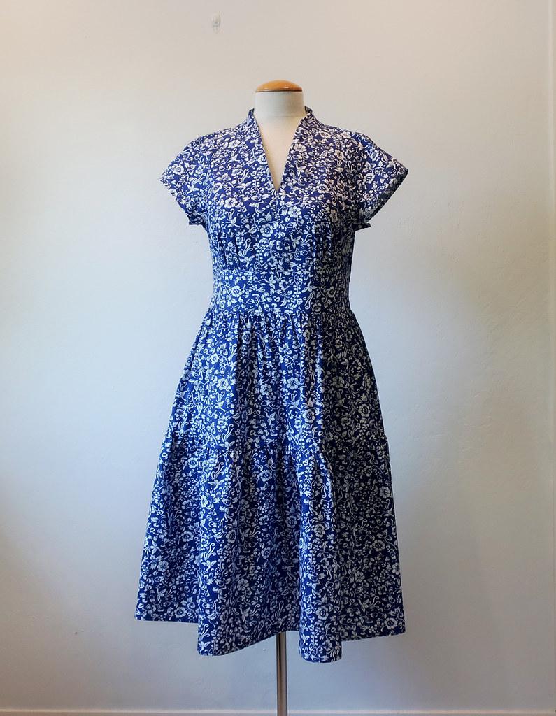 Blue poplin dress1