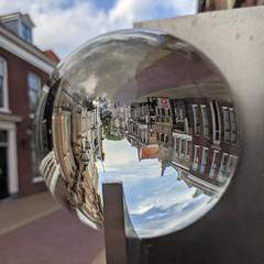 #art #sculpture #lens #GlassSphere #upsidedown