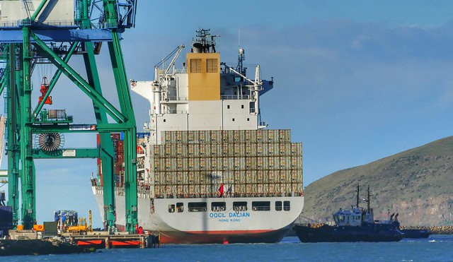 OOCL Dalian Port Lyttelton  NZ