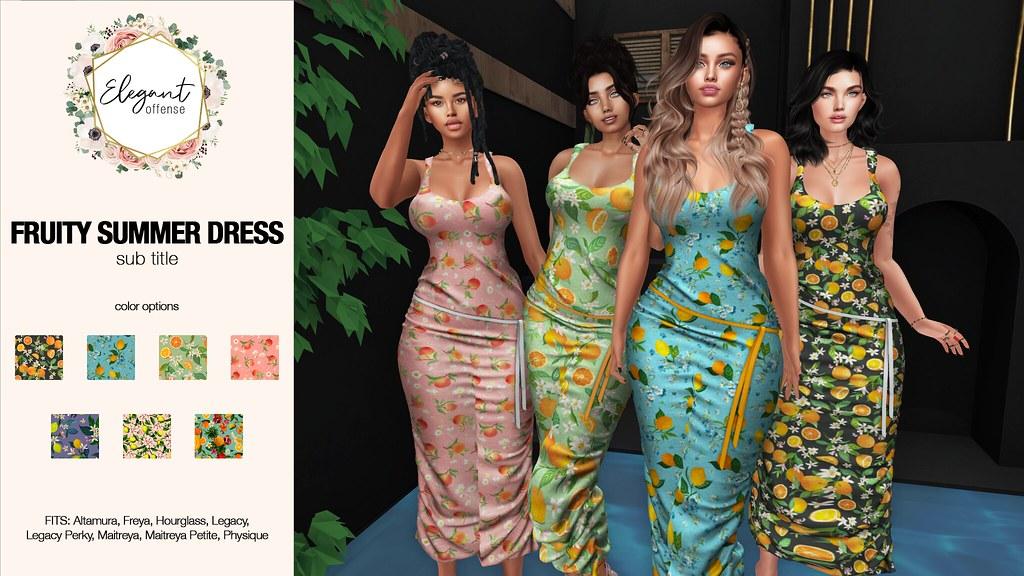 Elegant Offense Fruity Summer Dress Ad