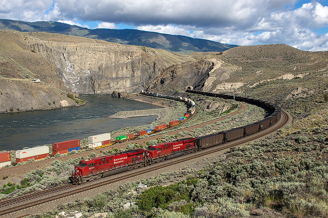 Canadian Pacific (CP) 9363 a 9374, Black Canyon, British Columbia, Canada, 09.06.2018.