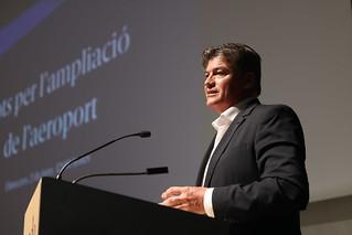 Acte reivindicatiu 'Sí a l'acord d'ampliació de l'aeroport' que reclama un gran pacte institucional a favor de la l'Aeroport Barcelona - El Prat