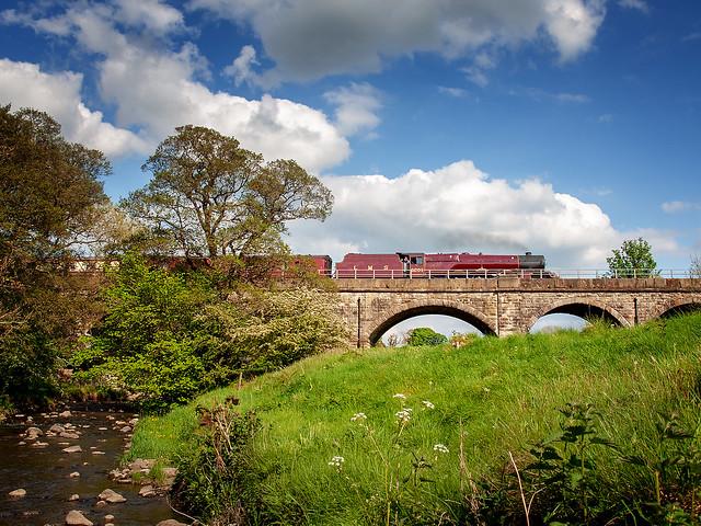 6201 PRINCESS ELIZABETH at Clitheroe, Lancashire, UK.