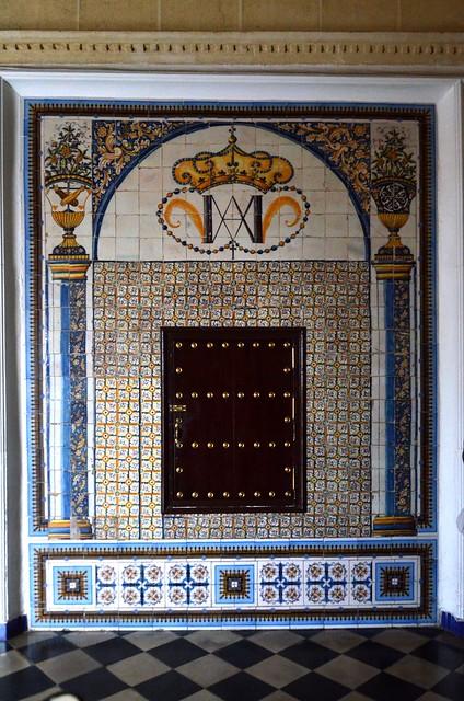 Preciosos azulejos en el Convento Madre de Dios en Sanlúcar de Barrameda, Cádiz