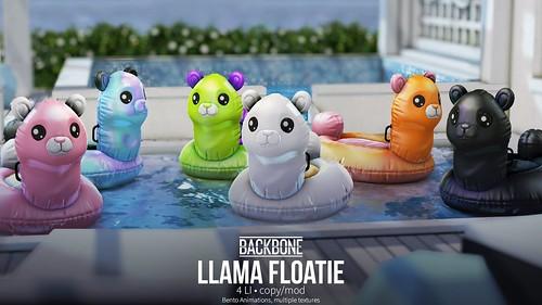 BackBone group gift - Llama Floatie