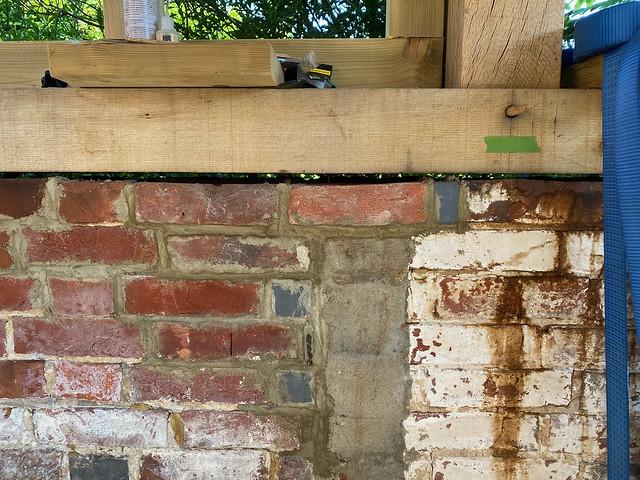 Wall repair complete