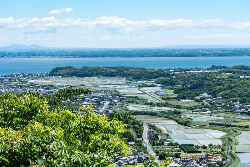 湖西連峰から見える浜名湖