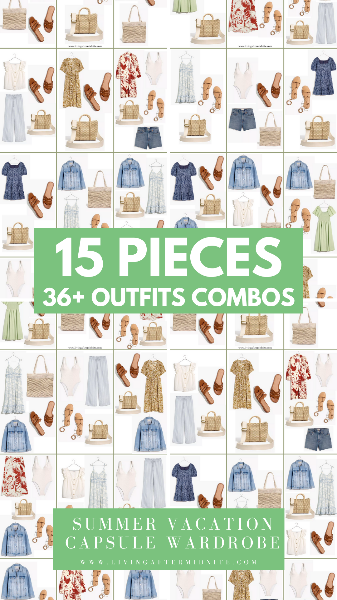 Affordable Madewell Summer Vacation Capsule Wardrobe
