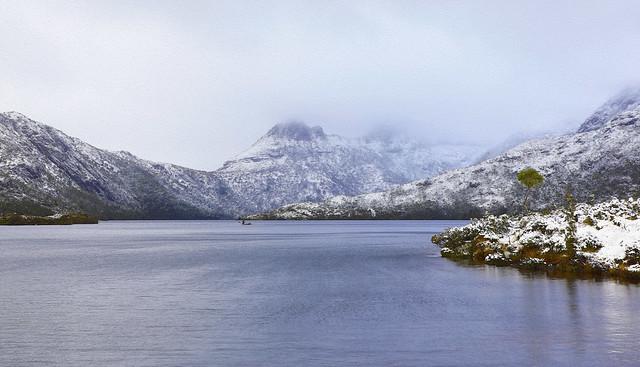 Cradle Mountain : Across Dove Lake . . .