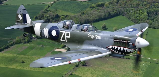 Superarine Spitfire MKIX TE308 G-AWGB marked up as A58-606 ZP-Z Grey Nurse RAAF
