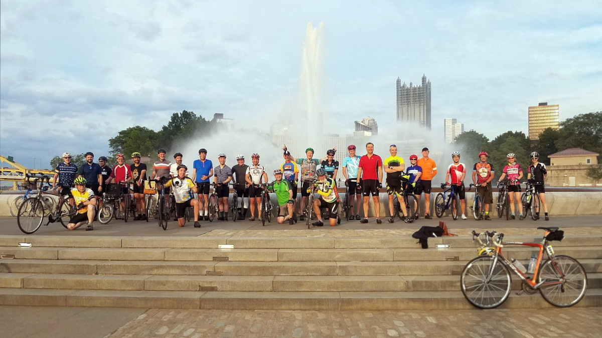 First post-Covid Team Decaf group ride
