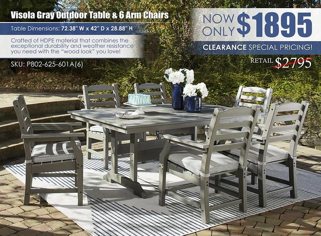 Visola Gray Dining Table & 6 Chairs_P802-625-601A(6)