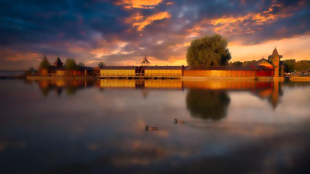 Lake Balaton at Sunset, Hungary